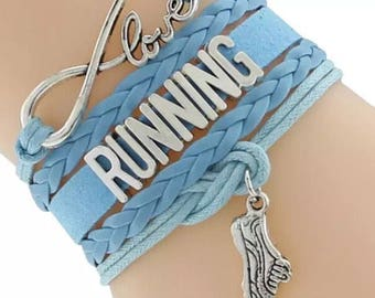 Love Running Adjustable Wrap Bracelet