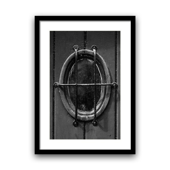 Door Photography, Old Door, Fine Art Print, Abandoned Urban Decay, Paris photography, French Home Decor, 5x7, 8x10, Black and white