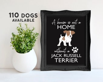 Jack Russell Terrier Poster Gift Jack Russell Mothers Day Gift from Dog Poster Mom Dog Lover Gifts Dog Wall Quote Mom Papillon Pomeranian
