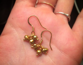 14k Gold plated + freshwater pearl earrings
