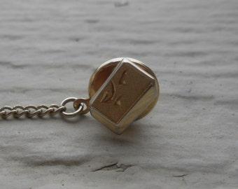 Vintage Gold Abstract Lapel Pin. Anniversary, Wedding, Groomsmen, Suit & Tie, Wall Street.