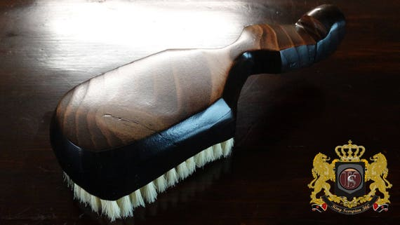 720 WAVE BRUSH: King Scorpion 360 Wave Brush - Dark Mahogany Medium 12 Row 360 Wave Brush - Custom Made To Order