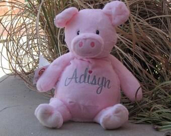 Pig Cubbie, Cubbie, Pig, Personalized Pig, Plush Pig, Stuffed Piggy, Baby Pig