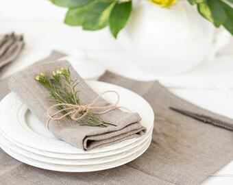Linen wedding napkin set 50 - Rustic wedding napkins - wedding tablescape decor - Wash linen napkin cloths -  Bridal party napkins