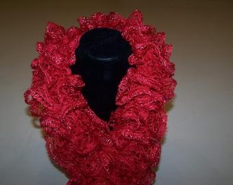 Ruffle Scarf Sashay: Red