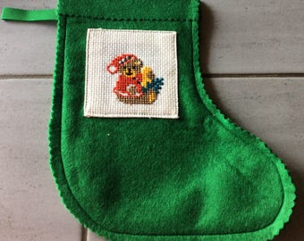 Christmas hand embroidered boots