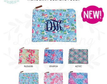 Lilly Pulitzer Inspired Monogram Cosmetic Bag / makeup bag / pencil case / zipper pouch / diaper pouch / travel pouch bag
