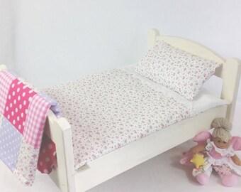 White Rose Dolls Bedding Set