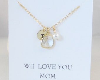 We Love You Mom,Mothers Day,Mom,Mommy,Mother,Diamond Necklace,Diamond,Gold,Gold NecklaceDiamond,Initial Necklace,Diamond Necklace,Monogram