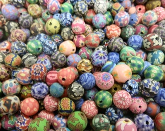 Clearance 200 Fimo Polymer Clay Round Beads Variety Set 10mm