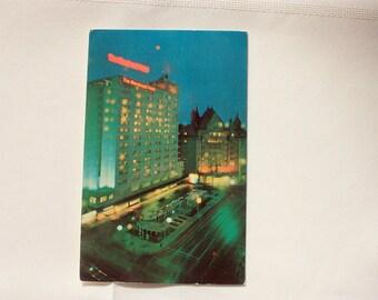Edmonton McDonald Hotel 1968  Edmonton Postcard Alberta Postcard  vintage Edmonton Souvenir /Vintage Hotel Postcard / Accommodation postcard