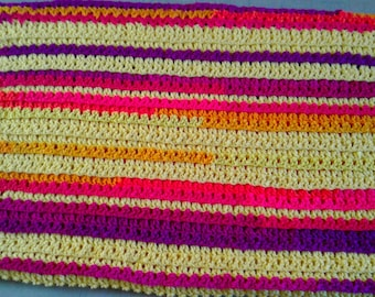 "Vibrant colors, cheer up any room, lap throw or baby blanket. 32"" x 40"""