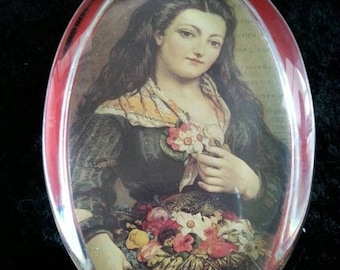ON SALE Vintage Paperweight Collectible 1960's Home Decor 1800's Art Work