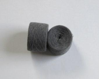 DARK GRAY 100% Cashmere 2064 yards recycled yarn