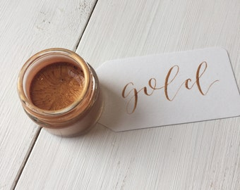 Gold Calligraphy Ink   Calligraphy Kit   Handmade Calligraphy Ink   Modern Calligraphy Ink   Dip Pen Ink   Copperplate Calligraphy Ink
