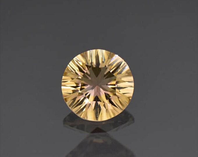 Bright Concave Round Ametrine Quartz Gemstone from Bolivia 1.52 cts.