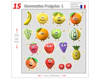 Mini stickers Fruigolos GOM015 - Gommettes Fruigolos GOM015