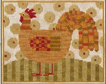 Cross Stitch Pattern - Funky Chicken - Choose Pattern Only or Pattern with Floss Kit