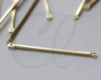 60 Pieces Raw Brass Connector - Link - Bar 40x1.2mm (3367C-L-130)