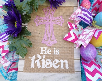 "Beautiful Easter Wreath ""He is Risen"""