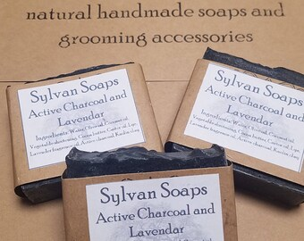 Active Charcoal and Lavender soap