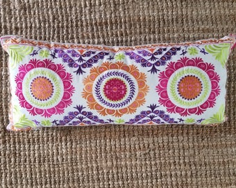 Beautiful Bohemian Style Floral Embroided Pillow