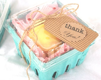 24 FARM FRESH BERRY Baskets and LidS---Party Favors-Weddings-Showers--Add Cookies, Cupcakes, Fruit or Gifts-