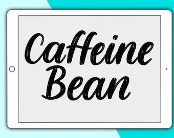 Caffeine Bean lettering brush for Procreate