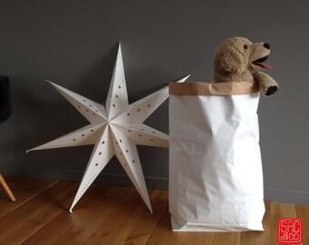 Paperbag, Sac kraft de Rangement, Taille L  H80cm x L57cm x fond 16cm