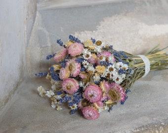 Meadow dried flowers bouquet