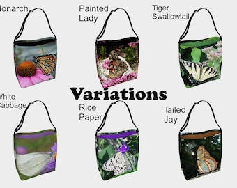 Butterfly, Day Tote Bags, Monarch, Swallowtail, Painted Lady, Rice Paper Butterfly, Tailed Jay Butterfly, Grocery Bag, Reusable Bag