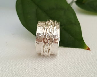 """Spinning Ring using sterling silver handcrafted  1/2"""" wide"""