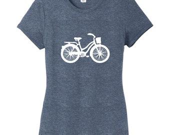 Vintage Cruiser Bike Women's Fitted T-Shirt