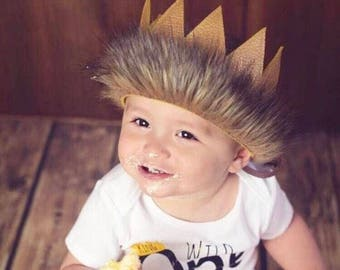 Where The Wild Things Are || Max Crown || Wild  One Leather Crown || Wild One || King of the Jungle || Safari Party || Fits Child To Adult