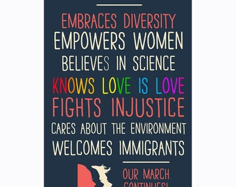 This Office Embraces Diversity (Our March Continues!) Poster
