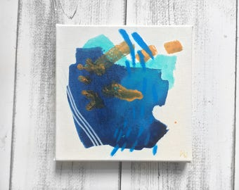 Original Mixed-Media Abstract Painting on Canvas.