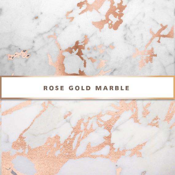 Rose Gold Marble Digital Paper Rose Gold Digital Paper