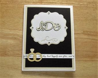Wedding Card -  Engagement Card - Wedding Gift - Homemade Wedding Card - Wedding Ring Card - Wedding Shower Card - Bridal Shower Card
