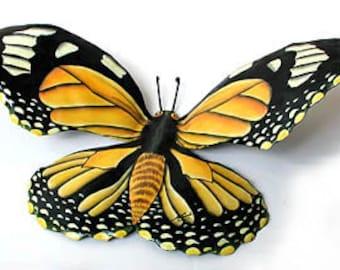 Outdoor Metal Wall Art, Painted Metal, Monarch Butterfly, Metal Art, Garden  Decor, Butterfly Art, Metal Wall Hanging, BU 517 M