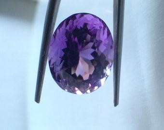 Amethyst Oval Cut loose gemstone - 6.95 carats