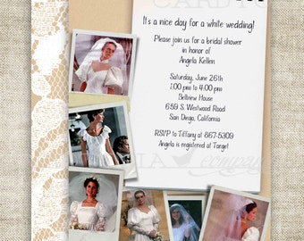 BRIDAL SHOWER Invitation 1980 Customize Digital diy Printable Personalized with Pictures Birthday or Baby Shower Invitations - 156451672