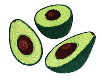 Avocado Embroidered Iron On Applique Patch,Embroidery Avocado Iron on for T-shirt,Coat or Jeans Decorative Embroidery Iron On Patches