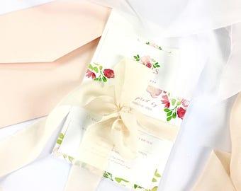 In Bloom- Wedding Invitation DEPOSIT LISTING