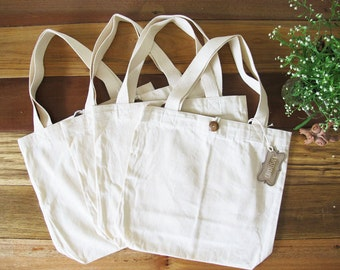 Natural 100% Cotton canvas Tote Bag - Blank
