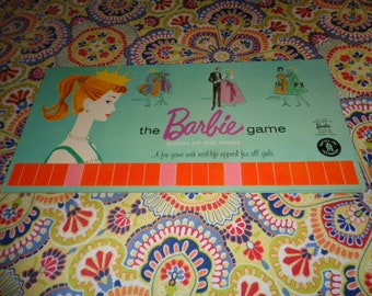 Retro Kitschy Mattel Barbie Doll Queen of the Prom Board Game Board only
