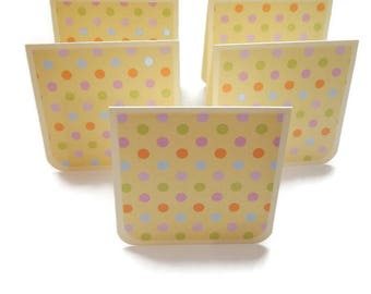 "Dotted Mini Notes, Gift Card Set of 5, Mini Cards Handmade, 3"" x 3"" Square Cards, Love Notes"