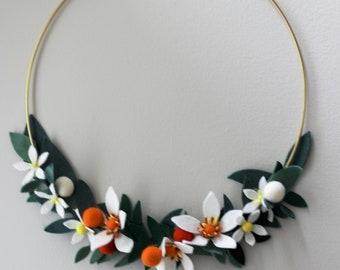 Orange Blossom Wreath