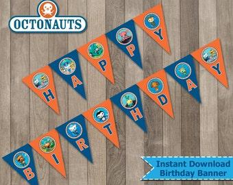 Octonauts Banner, Octonauts Party, Octonauts Printable Birthday Banner