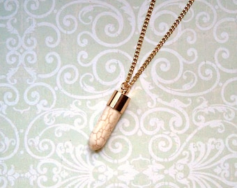 long necklace turquoise gold