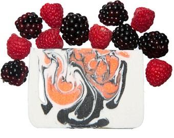 Handmade Soap, Black Raspberry Vanilla Soap Bar, Cold Process Soap, Vegan Soap Handmade, Fun Soap, Natural Soap Handmade, Kids Soap for Kids